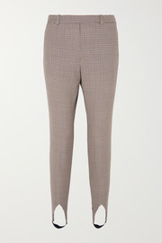Givenchy High-rise checked wool tapered stirrup pants