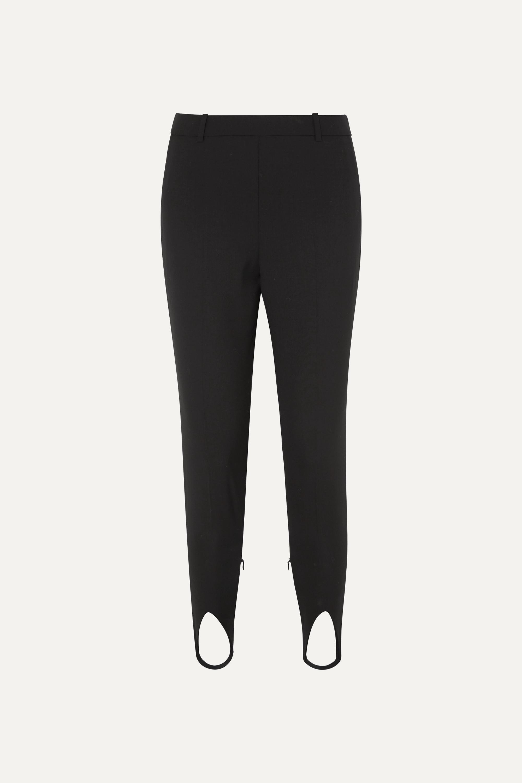 Givenchy Hoch sitzende Wollhose mit schmalem Bein und Steg