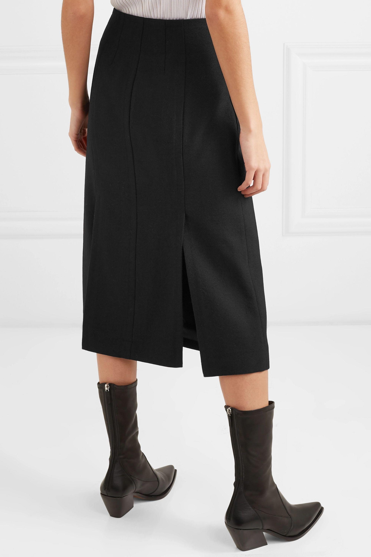 Givenchy Wrap-effect grain de poudre wool skirt