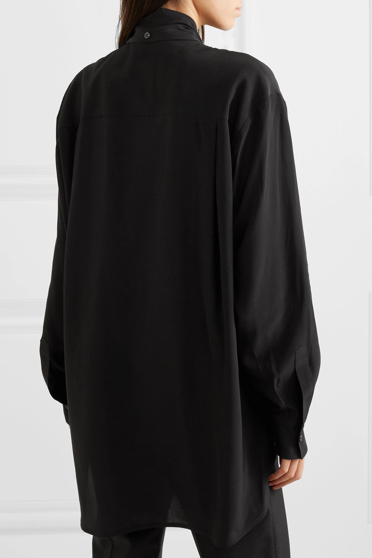 Givenchy Blouse oversize en crêpe de Chine de soie à volants