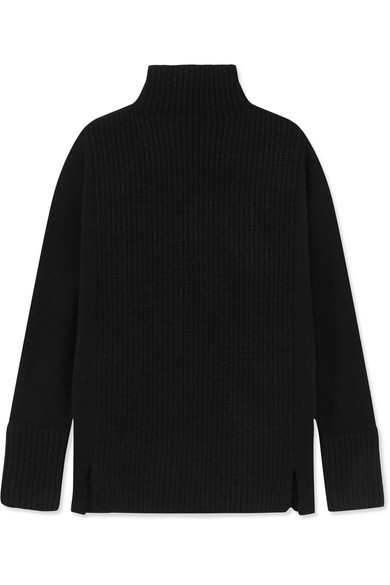 Ira Ribbed Cashmere Turtleneck Sweater by J.Crew