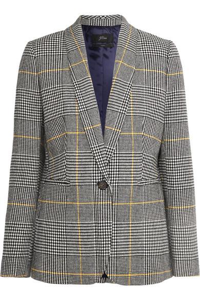 J.CREW | J.Crew - Parke Prince Of Wales Checked Tweed Blazer - Black | Goxip