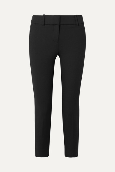 J.CREW | J.Crew - Cameron Cropped Stretch-cady Slim-fit Pants - Black | Goxip