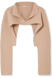 Loewe Cropped wool and cashmere-blend sweater