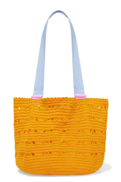 SOPHIE ANDERSON Hoya Woven Tote in Orange
