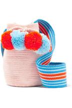 Sophie Anderson Lulu II mini pompom-embellished woven bucket bag 5a74102675f03