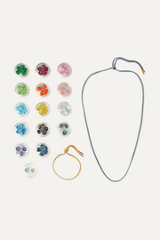 Lurex multi-stone bracelet and necklace set