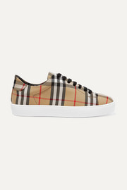 Burberry Karierte Sneakers aus Canvas