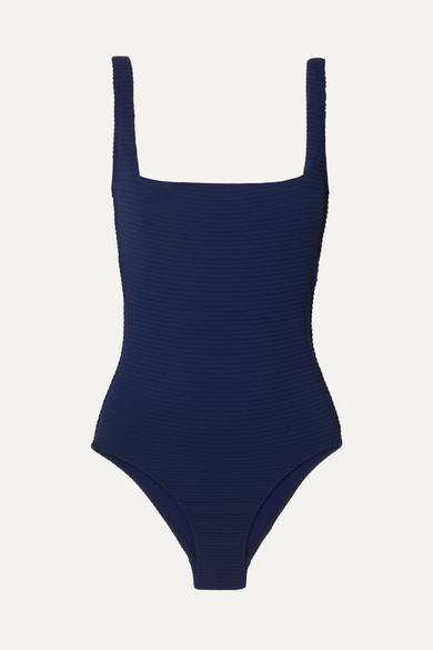 c0d280c7899 Heidi Klein | Carlisle Bay lace-up ribbed swimsuit | NET-A-PORTER.COM