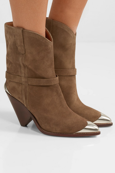 Isabel Marant Boots Lamsy embellished suede ankle boots