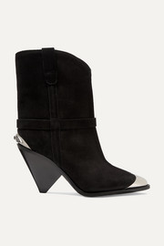 Lamsy embellished suede ankle boots