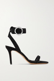 Alapee crystal-embellished suede sandals