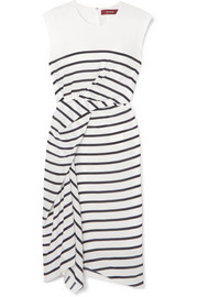 Sies Marjan Anita asymmetric striped silk-crepe dress