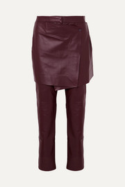 Sies Marjan Judy layered leather slim-leg pants