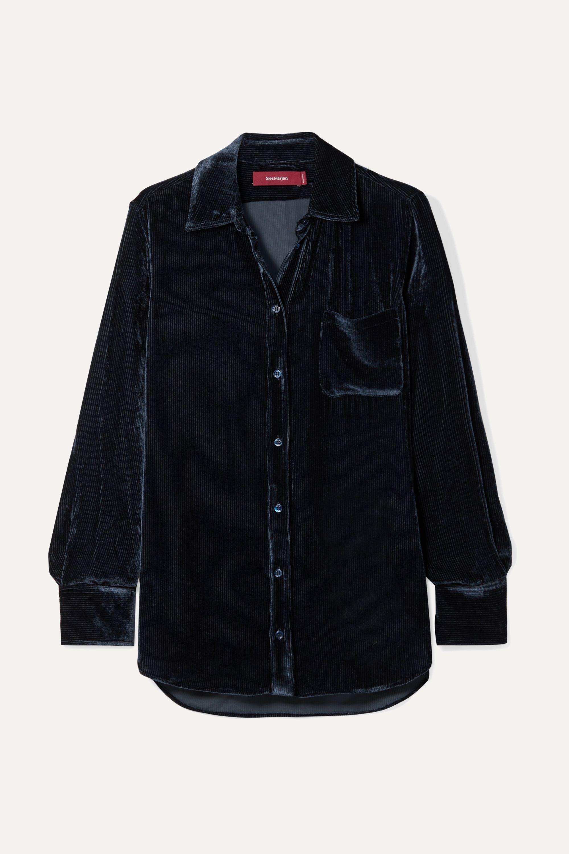 Sies Marjan Sander Hemd aus Cord aus einer Seiden-Baumwollmischung