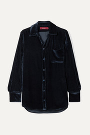 Sies Marjan Sander silk and cotton-blend corduroy shirt