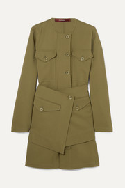 Sies Marjan Ava layered wool-canvas jacket