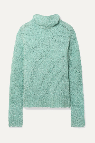 SIES MARJAN Sukie Oversized Bouclé Turtleneck Sweater in Jade