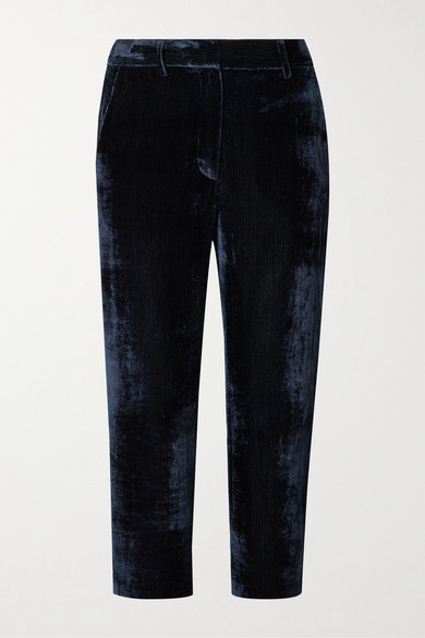 de3cf7c612 Willa cropped silk and cotton-blend corduroy straight-leg pants