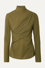Peyton ruched stretch-jersey turtleneck top