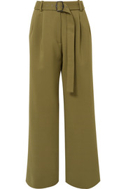 Sies Marjan Blanche belted wool-canvas pants