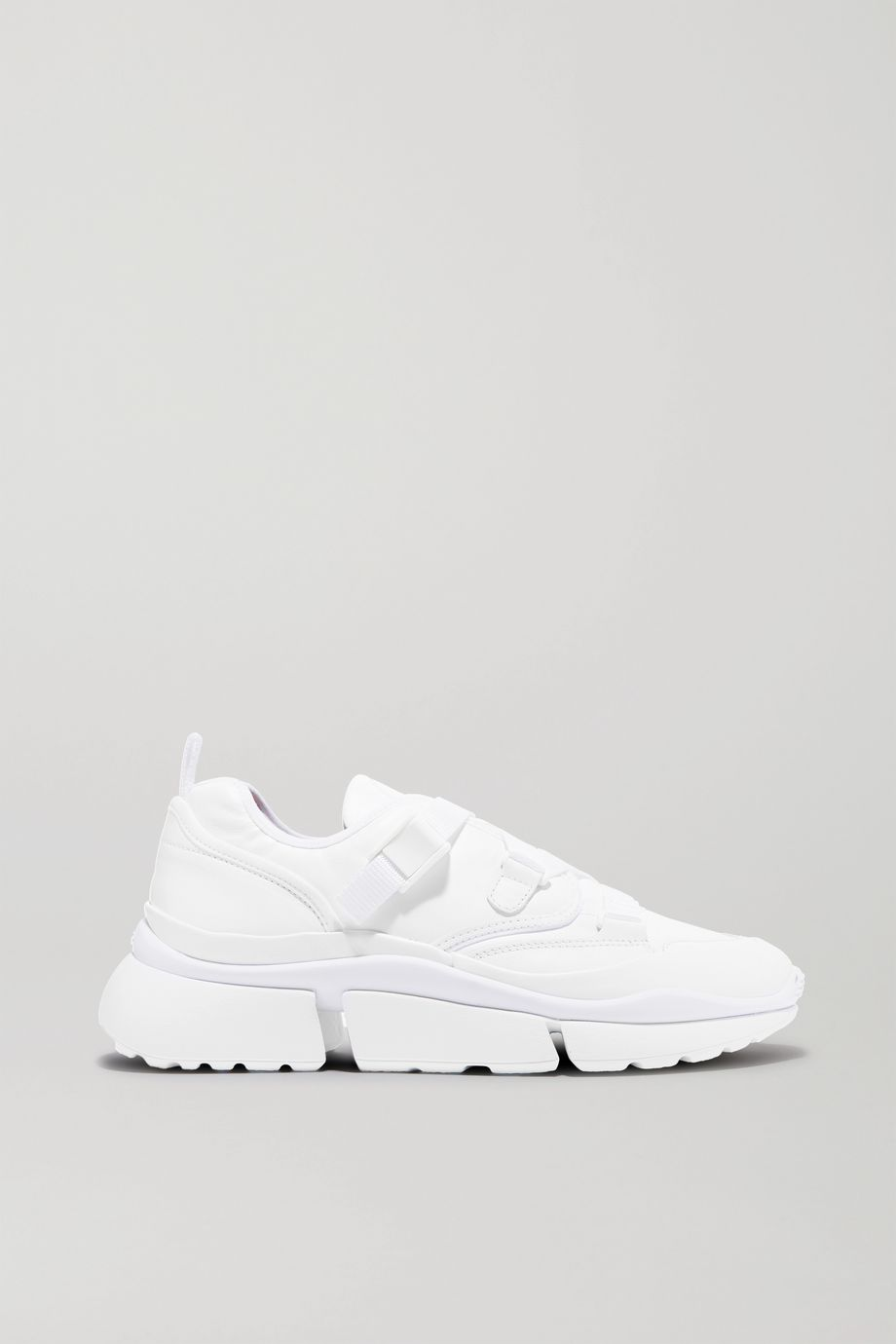 Chloé Sonnie canvas and leather sneakers