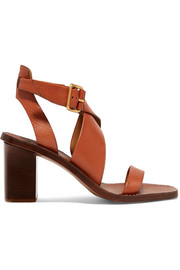 Virginia textured-leather sandals