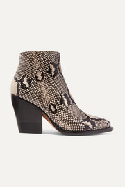 Rylee snake-effect leather ankle boots