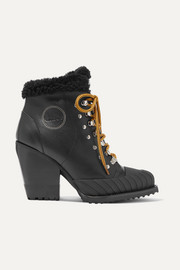 Rylee shearling-lined leather ankle boots