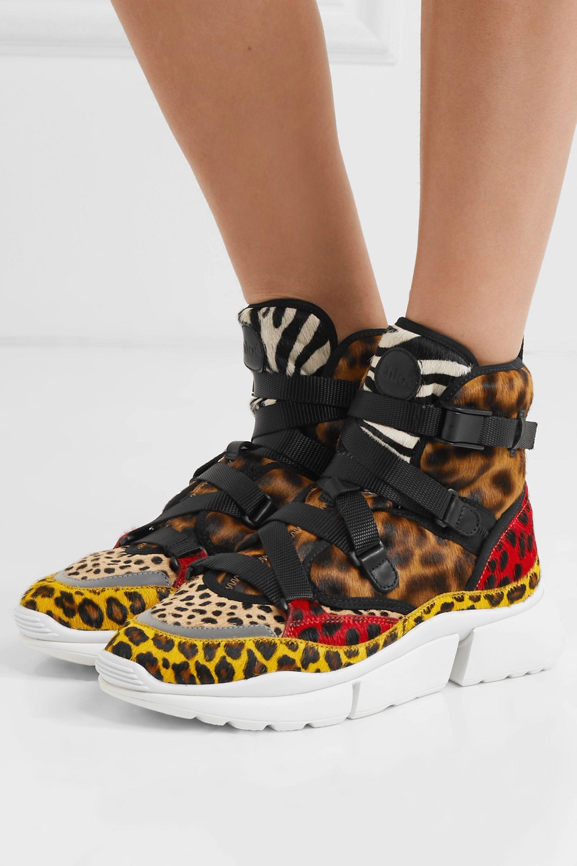 Sonnie leopard-print calf hair