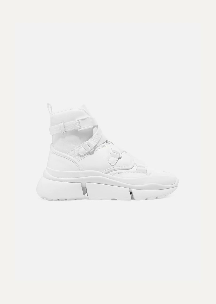 Chloé Sonnie leather high-top sneakers