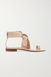 Chloé Roy buckled croc-effect leather sandals