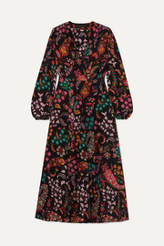 Etro Printed silk crepe de chine wrap dress