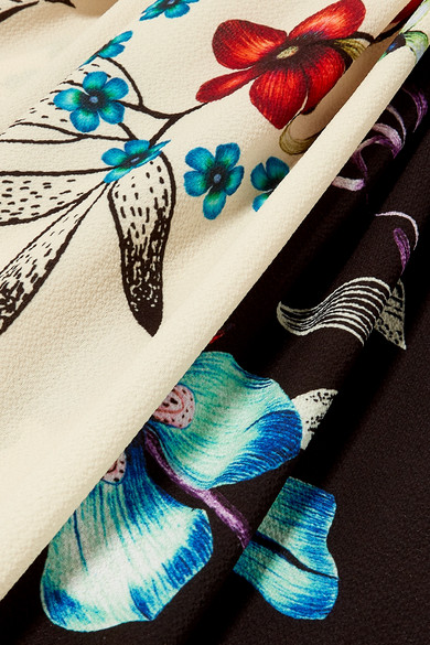 Etro Dress Twist-front floral-print crepe de chine maxi dress