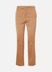Satin-jacquard slim-leg pants