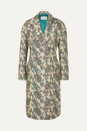 Etro Cotton and silk-blend jacquard coat