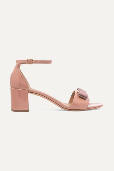 b3702264f62 Gavina bow-embellished patent-leather sandals
