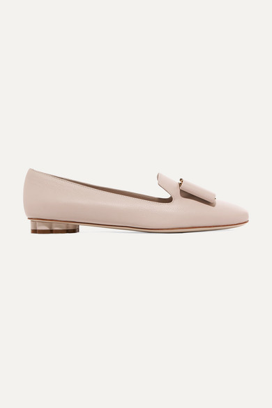 57325ef27 Salvatore Ferragamo | Sarno bow-embellished leather loafers |  NET-A-PORTER.COM