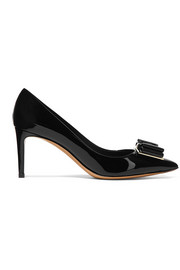 Salvatore Ferragamo Zeri bow-embellished patent-leather pumps