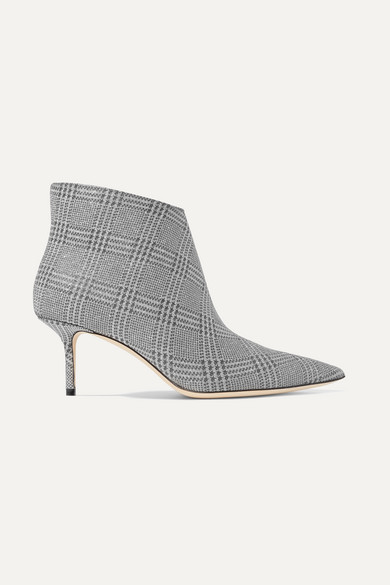 fdc72c06d3c4 Jimmy Choo | Marinda 65 glittered Prince of Wales checked leather ...