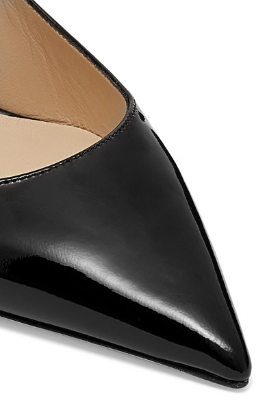 0f0ef2848cf Jimmy Choo. Bing 100 crystal-embellished patent-leather mules. £695. Zoom In