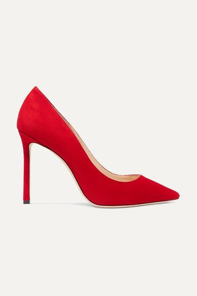 Women'S Romy 100 High-Heel Pointed Toe Pumps in Red