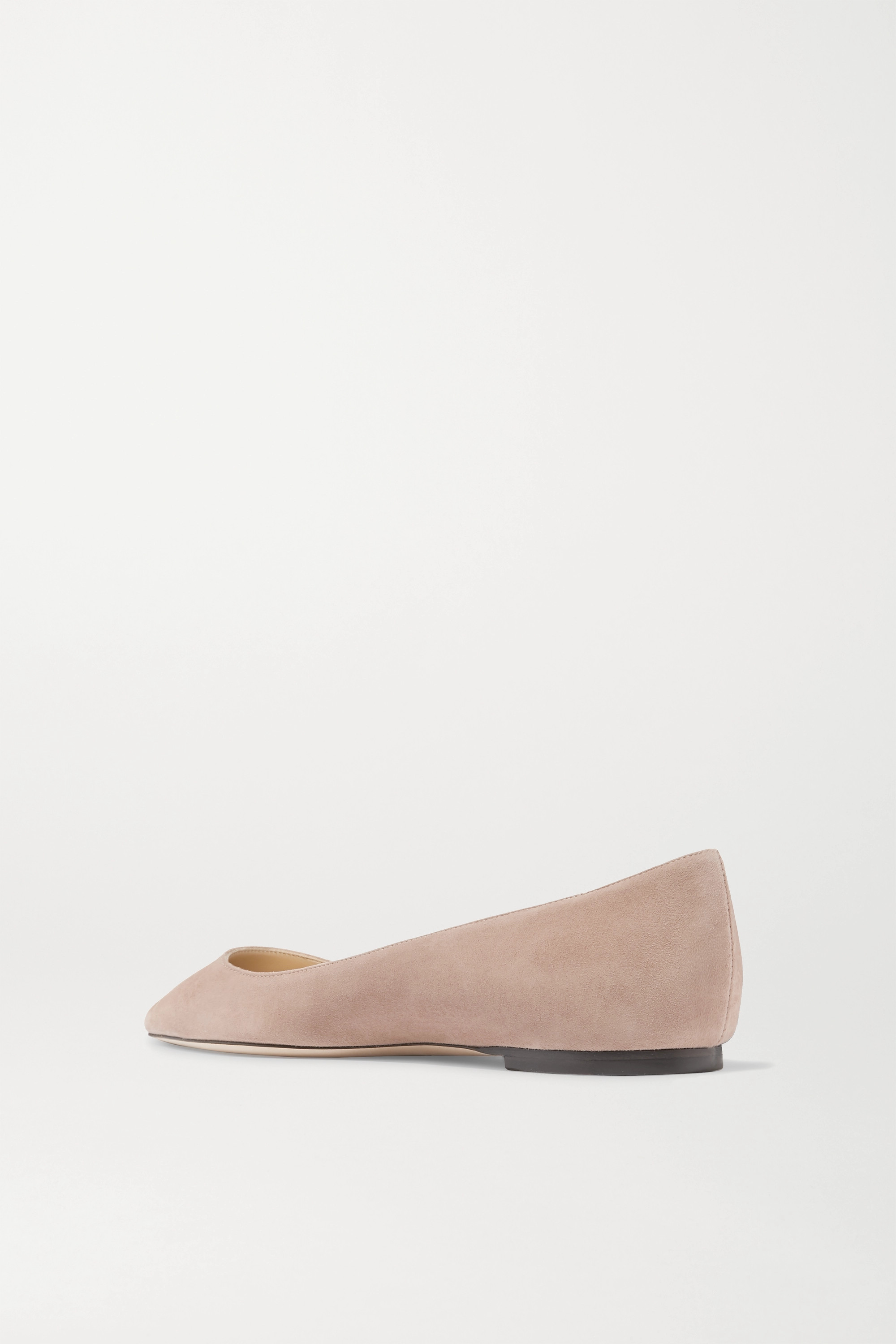 Antique Rose Romy Suede Point-toe Flats | Jimmy Choo