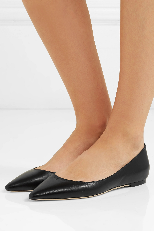Jimmy Choo Romy leather point-toe flats