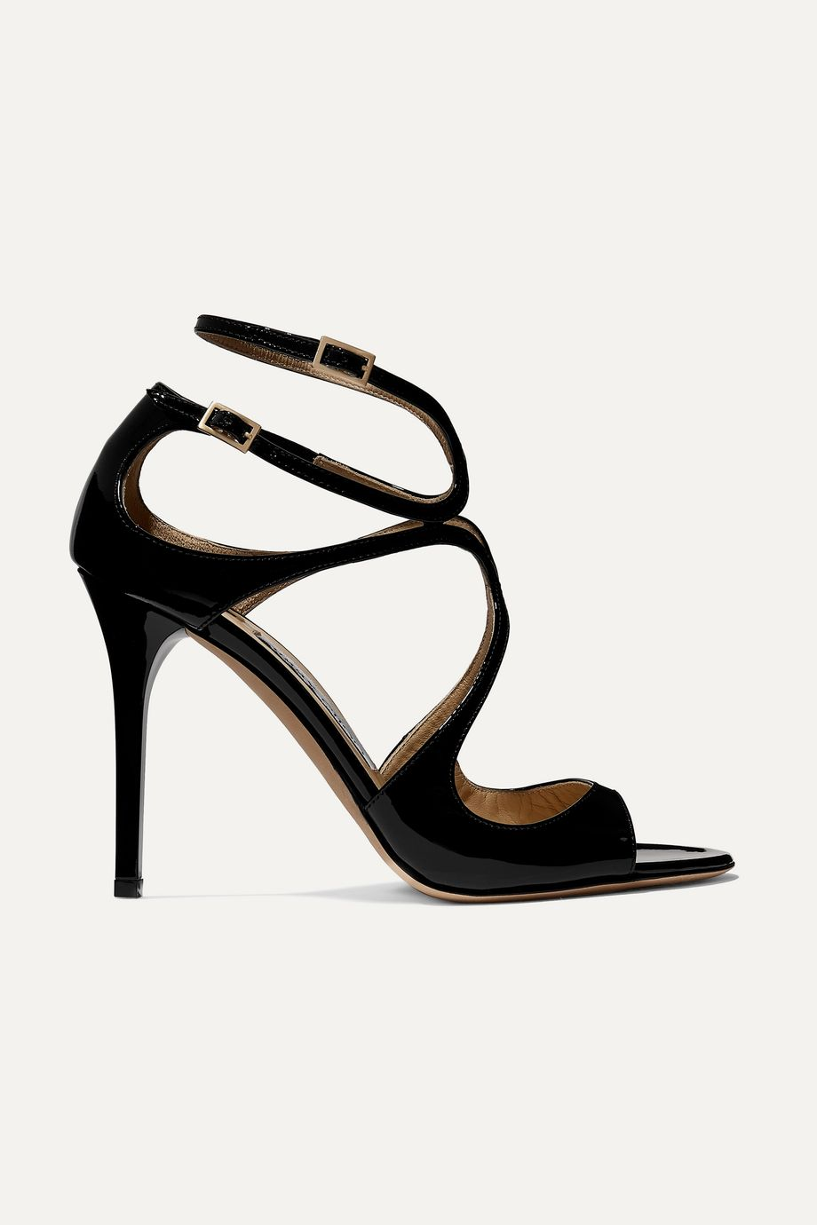 Jimmy Choo Lang 100 patent-leather sandals