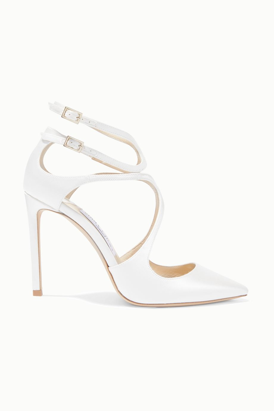Jimmy Choo Lancer 100 satin pumps