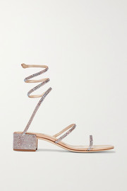 René Caovilla Cleo crystal-embellished satin sandals