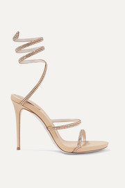Cleo crystal-embellished leather sandals
