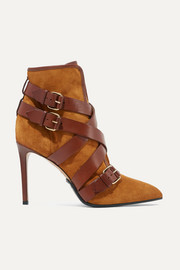 Jakie suede and leather ankle boots