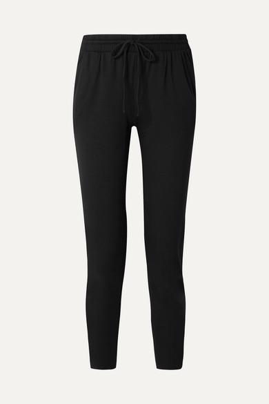 CALÉ Juliette Jersey Track Pants in Black